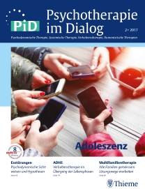 Psychotherapie im Dialog - Adoleszenz