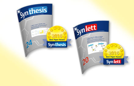 SYNTHESIS/SYNLETT Best Paper Awards © Thieme