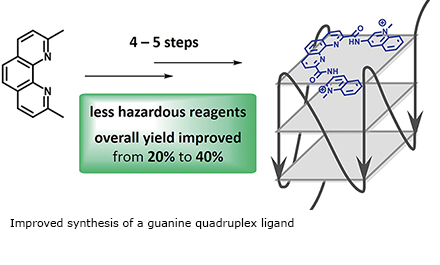 Improved synthesis of a guanine quadruplex ligand