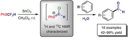 Difluoro(phenylsulfanyl)methane as a Formylating Agent