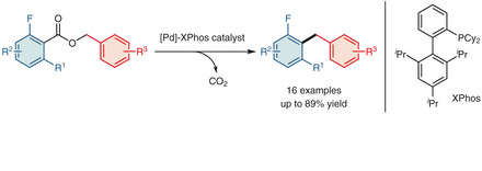 Ryoichi Kuwano presents the palladium-catalyzed synthesis of ortho-fluorodiarylmethanes.
