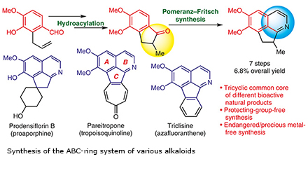 Synthesis of the ABC-ring system of various alkaloids