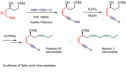 Synthesis of fatty acid intermediates