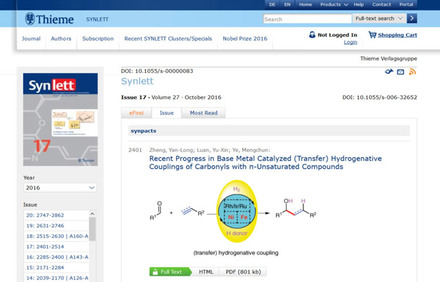 Thieme Chemistry E-Journals