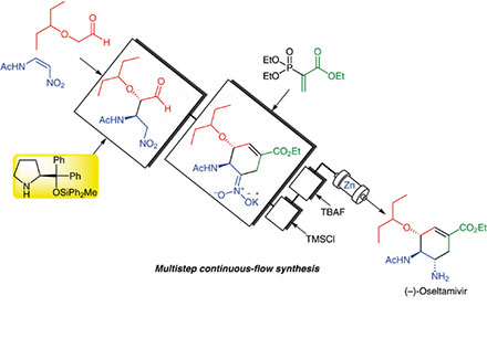 Multistep Continuous-Flow Synthesis of (–)-Oseltamivir by Prof. Y. Hayashi