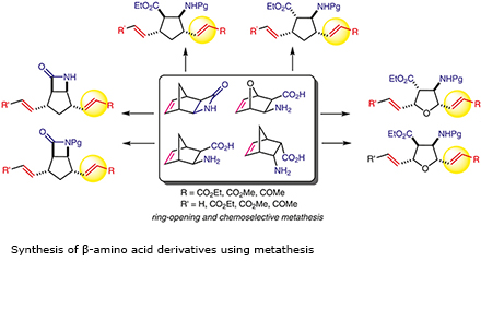 Synthesis of β-amino acid derivatives using metathesis