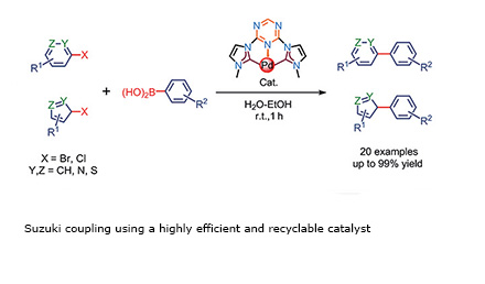 Suzuki coupling using a highly efficient and recyclable catalyst