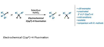 Electrochemical C(sp³)–H Fluorination