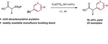 Rylan Lundgren presents a copper-mediated synthesis of monofluoro aryl acetates.