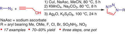 Zhen Chen describes the synthesis of 1-monosubstituted 1,2,3-triazoles from propargyl alcohol.