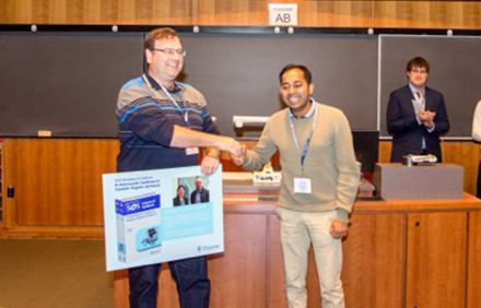 SYNFACTS Poster Prize awarded to Priyabrata Ghana at ICHAC-12