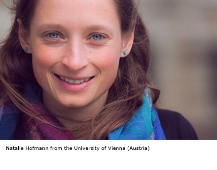 Natalie Hofmann from the University of Vienna (Austria)