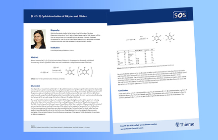 Case Study: [ 2 + 2 + 2 ] Cyclotrimerization of Alkynes and Nitriles