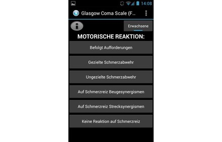 Screenshot Glasgow Coma Scale App