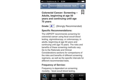 Screenshot der App Electronic Preventive Services Selector (ePSS)