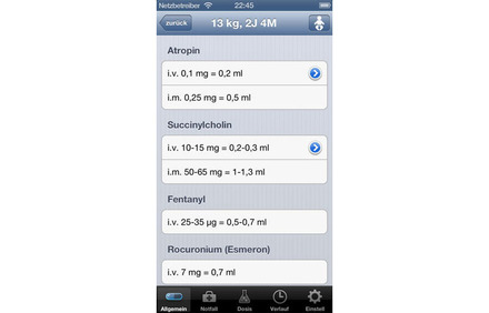 Screenshot AnaPaed App
